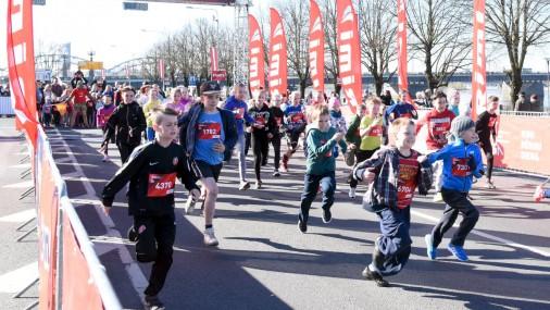 Рижский марафон: детский забег на набережной 11 ноября