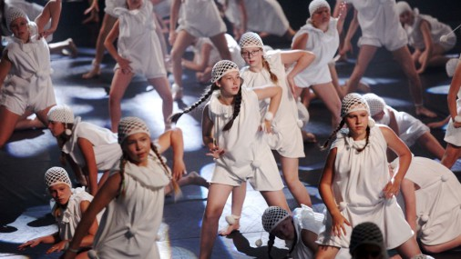 """Dziesmu un deju svētku deju lielkoncerta """"Te mēs Es@am"""" mēģinājums"""