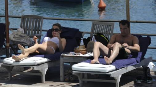 Banderasa un viņa draudzenes atpūta Itālijā