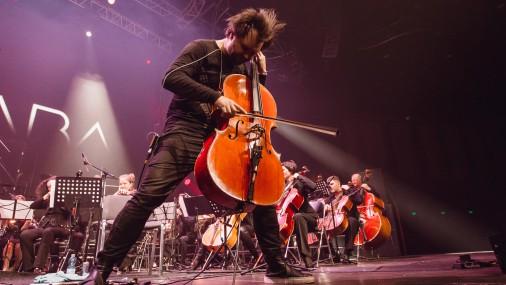 Mūzikas grupa DaGamba uzstājas Krievijā