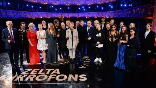 Pasniegtas Latvijas mūzikas ierakstu gada balvas «Zelta mikrofons 2015»