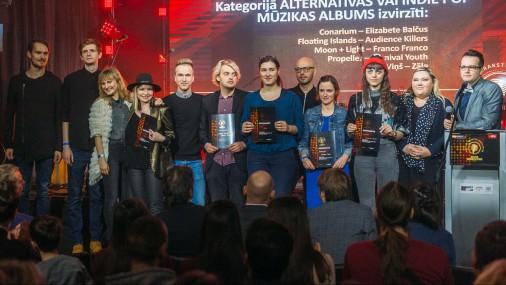 """Paziņo Mūzikas ierakstu gada balvas """"Zelta Mikrofons"""" nominantus"""