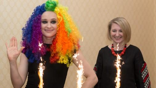 Preses konference pirms došanās uz Eirovīzijas dziesmu konkursu Kijevā