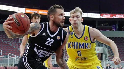 Команда «VEF Rīga» проиграла сильным баскетболистам «Himki»