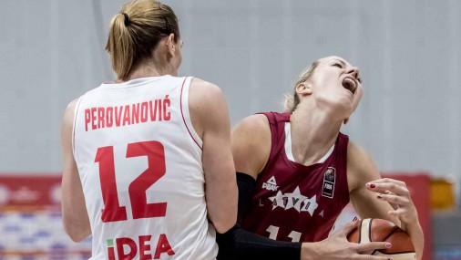 Латвийские баскетболистки обыграли сборную Черногории