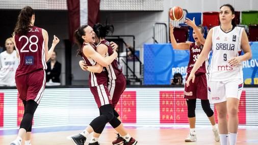 Латвийская женская сборная по баскетболу вышла в четвертьфинал чемпионата Европы
