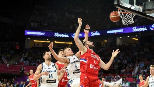 """EuroBasket 2017"" zelta spēle: Slovēnija - Serbija"