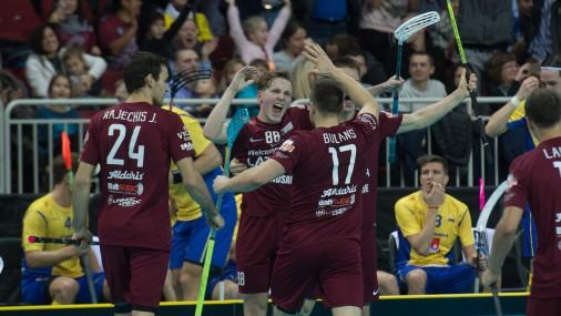 Чемпионат Мира по флорболу в Риге: Латвия-Швеция