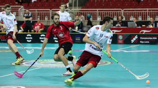 Чемпионат мира по флорболу в Риге: Латвия-Канада