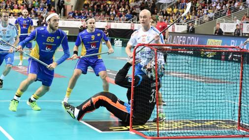 Чемпионат Мира по флорболу в Риге: Латвия-Финляндия