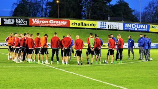 Latvijas futbola izlase sāk gatavoties mačam ar Šveici