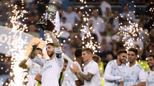 «Real» futbolisti uzveic «Barcelona» un izcīna Spānijas Superkausu