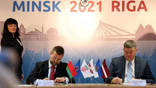Informē par Rīgas un Minskas pieteikumu organizēt PČ hokejā