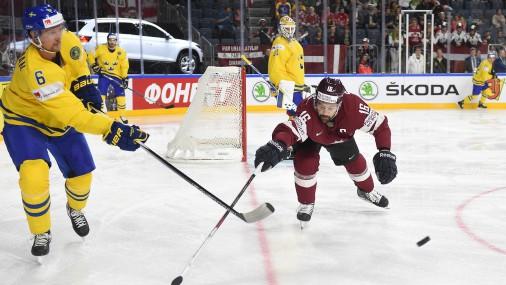 Pasaules čempionāta spēle hokejā: Latvija - Zviedrija