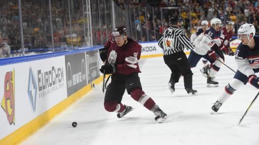 Pasaules čempionāta spēle hokejā starp Latvijas un ASV izlasēm