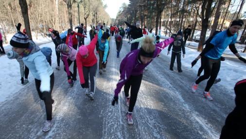 В Межапарке первая тренировка Рижского марафона Nordea