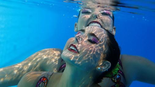 Бразильская команда по синхронному плаванью
