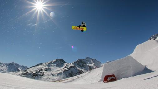 Латвийские сноубордисты покоряют Альпы