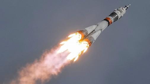Krievijas kosmosa kuģa Sojuz MS-04 starts