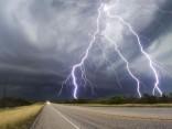 Впечатляющая молния в Техасе