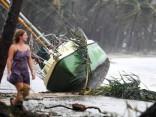 """Austrālijas ziemeļaustrumos plosījies ciklons """"Debija"""""""