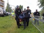 Под присмотром полиции и с протестами активистов в Таллине спилили иву