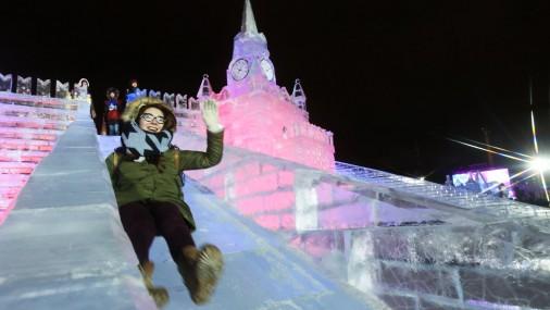 Ledus skulptūras Maskavā