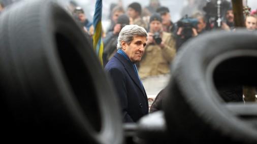 ASV valsts sekretārs Džons Kerijs apmeklē Kijevu