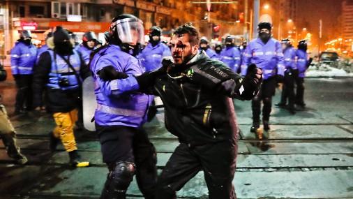 Антиправительственные выступления в Румынии