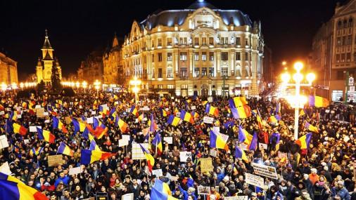В Румынии продолжаются массовые протесты против правительства