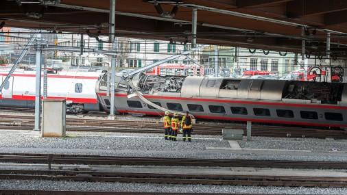 Авария поезда в Швейцарии