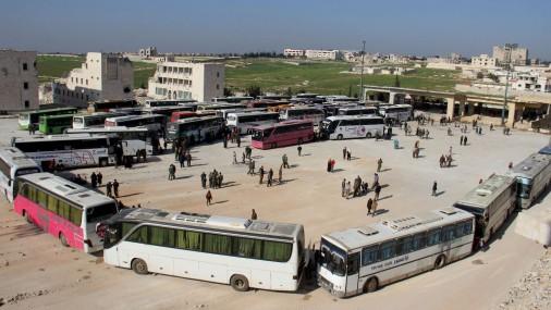 Sīrijas iedzīvotāju evakuācija