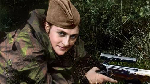 Русские девушки-снайперы Второй мировой войны