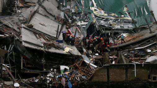 В Шри-Ланке рухнуло семиэтажное здание