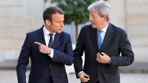 Президент Франции Макрон встретился с премьером Италии Гентилони