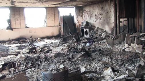 Как выглядит внутри сгоревшая башня в Лондоне