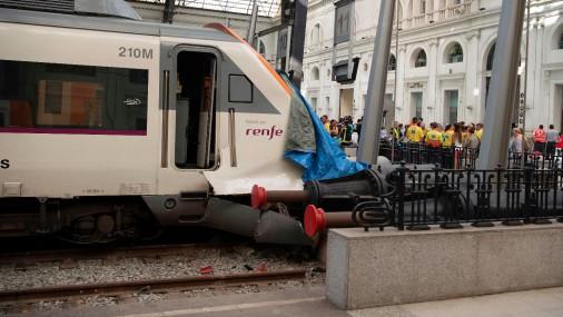 Авария поезда в Барселоне
