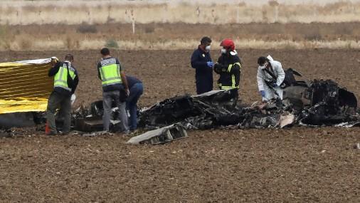 Madridē avarē militārā lidmašīna