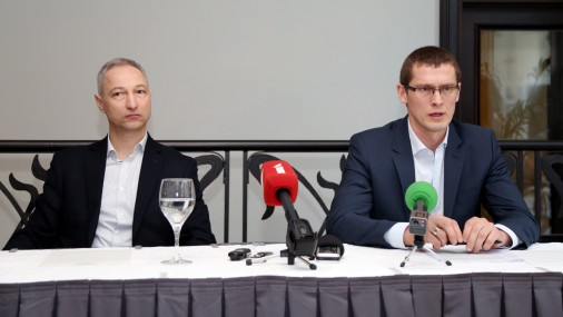Bijušā KNAB darbinieka Jura Juraša preses konference