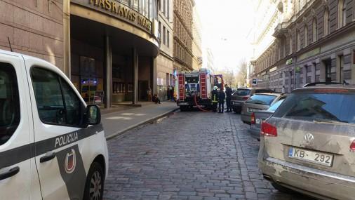 В жилом здании на ул. Альфреда Калниня возник пожар
