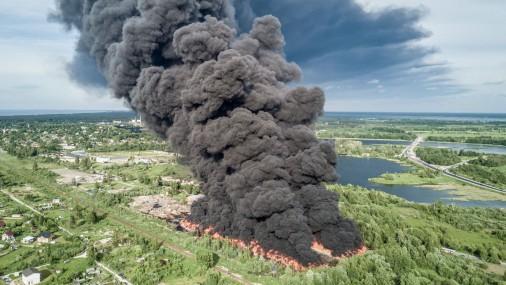 Пожар повышенной опасности в Юрмале