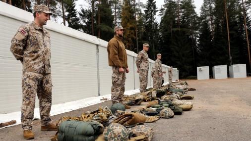 Rezerves karavīru mācības Latgalē