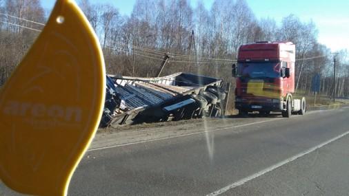 Авария на шоссе в Айзпуте