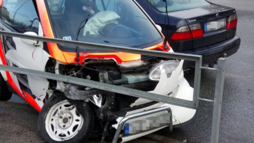 Авария на улице Крустпилс