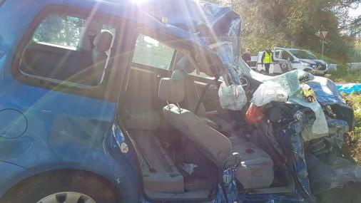 Тяжелая авария на шоссе Валмиера - Руйена
