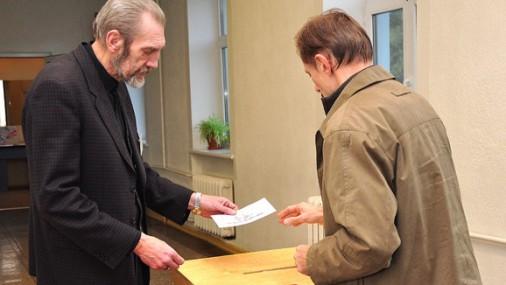 Выборы в Риге в 8 утра