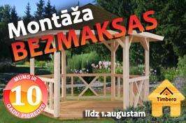 Timbero koka mājas (dāvanā bezmaksas montāža)