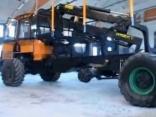 Latvijā ražots meža traktors