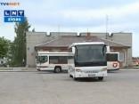 Slēgs virkni autobusu reisu