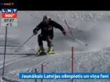 Jaunākais Latvijas olimpietis un viņa fani